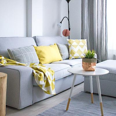 Funda para sofá de Ikea modelo Kivik y Resposapies en tela Pandora Zinc