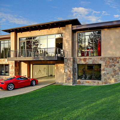 Ideas para guardar tu coche: Casas con garaje en el salón