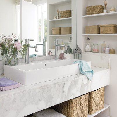 grifos dobles de baño