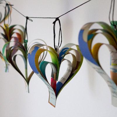Guirnalda decoración con papel