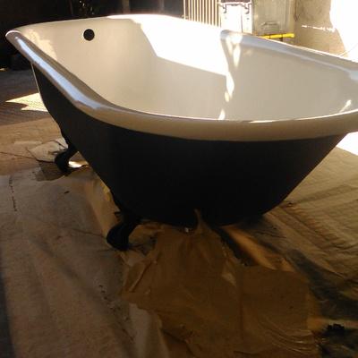 Restauración y esmaltado bañera de patas antigua