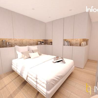 INTERIORISMO: habitación con vestidor y baño integrado en Ausias March (Valencia)