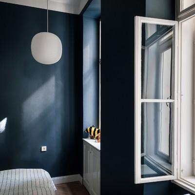 habitación color azul petroleo