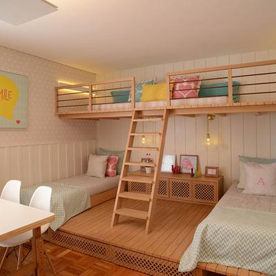 Habitacion con 3 camas