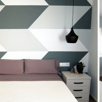 dormitorio geométrico