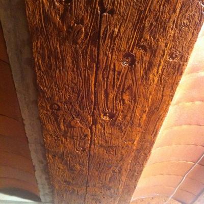 imitacion a madera sobre hormigon