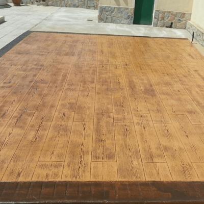 Hormigon Impreso en Alicante con efecto madera