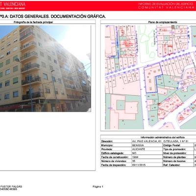 Informe de evaluación de edificio (I.T.E.), Valencia