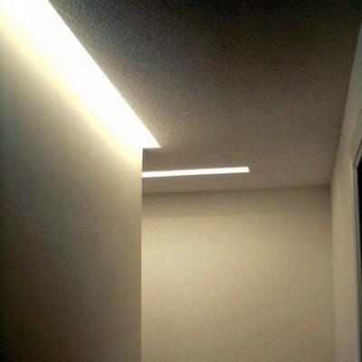 Iluminación indirecta en pasillos