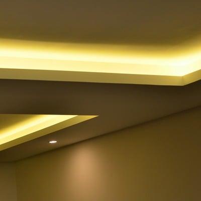 Iluminación indirecta falso techo