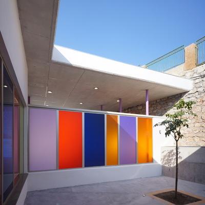 Imagen de un patio de aula