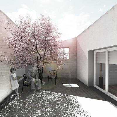 """Casa Patio con jardín - """"Mi corazón, mi patio"""""""