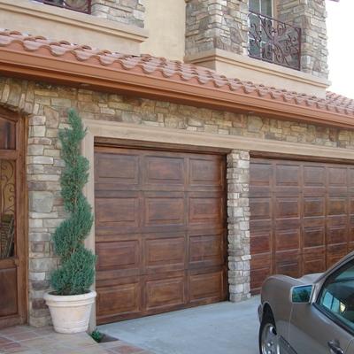 imitacin madera puerta garaje estilo espaol