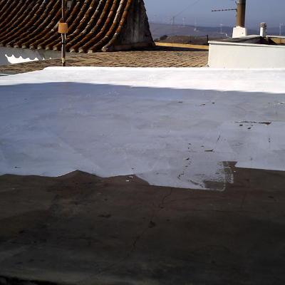 impermeabilizacion de cubierta deteriorada.