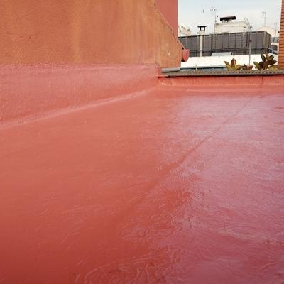 Impermeabilización de cubierta sobre escalera