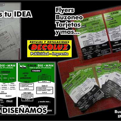 IMPRENTA publicidad tarjetas flyers buzoneo