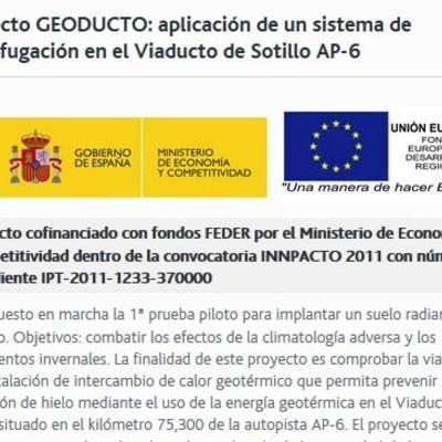 INSTALACIÓN GEOTÉRMICA EN EL VIADUCTO DEL SOTILLO (JUNTA DE CASTILLA Y LEON)