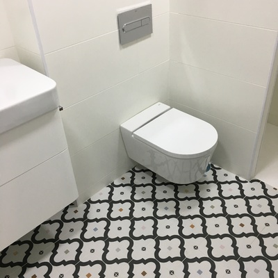 Inodoro suspendido cisterna empotrada