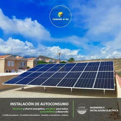 Instalación Autoconsumo Fotovoltaico con acumulación