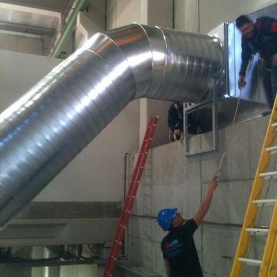 Instalación de ventilación presa hidroeléctrica Sierra Brava