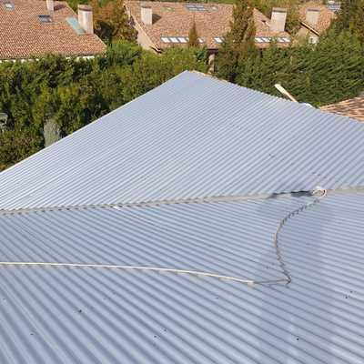 Instalación de cubierta en La Finca Madrid