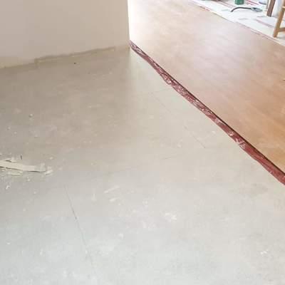 Instalación de suelo laminado.