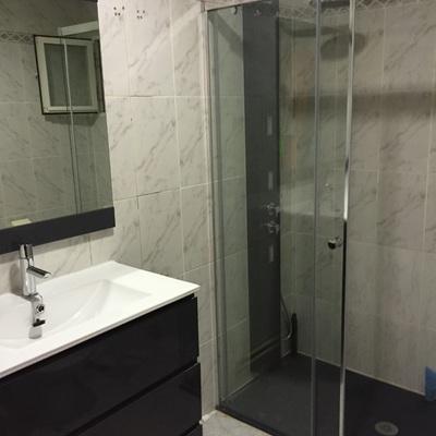 INSTALACION de muebles y cambio de bañera a plato ducha