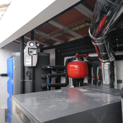 Instalación de calefacción en complejo hotelero