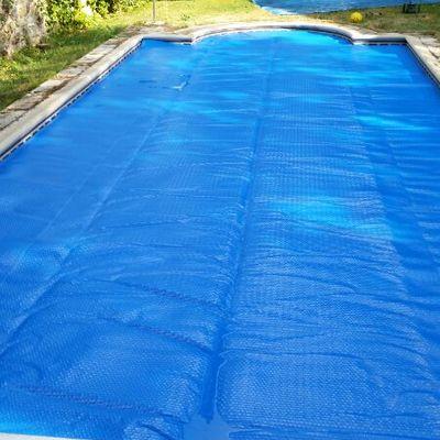 Instalación lona cobertora solar Rascafría
