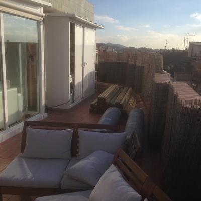 Instalación de terraza forrado de paredes y valla de tarima exterior pino cuperizado
