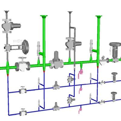 Esquema 3D industrial