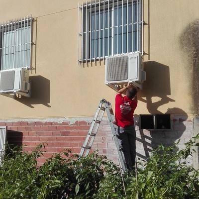 Instalación equipos aire acondicionado frio calor