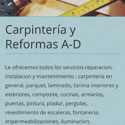 Carpinteria madera y reformas en general