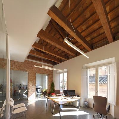 Interior del estudio de arquitectura de Piñar Romero Arquitectos.