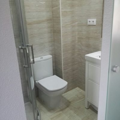 Construcción de baño con muros de pladur