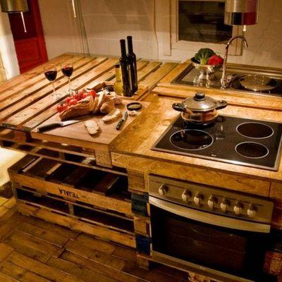 ¿Palés en la cocina? ¡Sí, por favor!