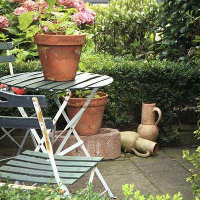 Jardín muebles reiclados