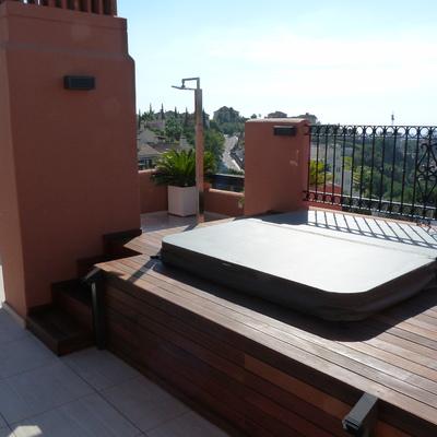 Reforma terraza en atico