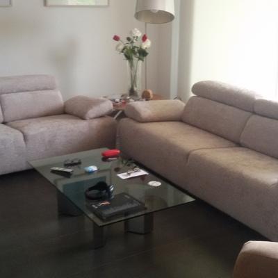 Restauración de un  juego de  sofa marca  Divatto en Sevilla