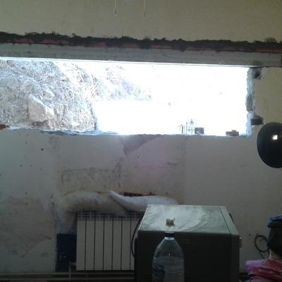 Montando una ventana pa una cosina