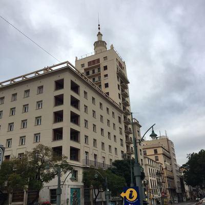 Mudanza en  unos de los edificios más históricos de Málaga, edificio La Equitativa