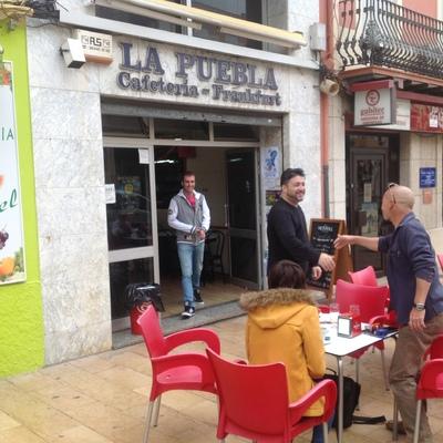Renovación integral de imagen Cafetería La Puebla, Vinaros.