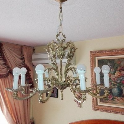 Restauracion de lampara laton