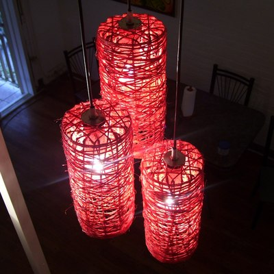 Cómo hacer lámparas de hilo de cáñamo