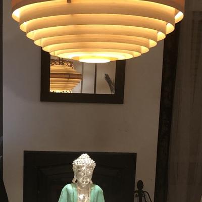 Lámparas de bambú con led