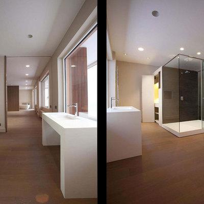 Las salas de baño integradas el dormitorio
