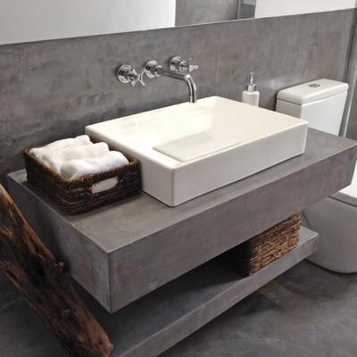 Reforma baño con microcemento