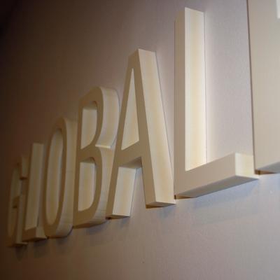 Letras recortadas en PVC 19 mm - Global Red