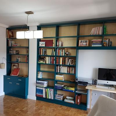 librería a medida lacada