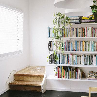 Librerias con escalera estantera de diseo con escalera - Escaleras para bibliotecas ...